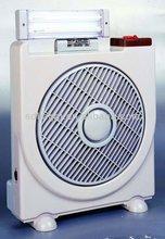 10'' rechargeable battery fan battery operated mini fan with emergency lamp