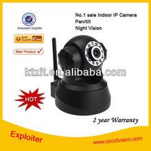 Top No.1 Sale Indoor 300kp wireless p2p ip camera, night vision,2 way audio