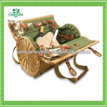 2015 best sale wicker picnic basket for outdoor