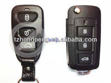 3 button modified flip key case for Hyundai NF folding car key shell factory direct