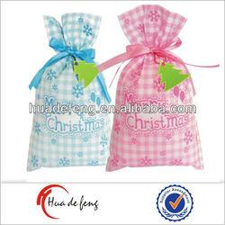 Top selling quality silk-screen wedding mini drawstring bags