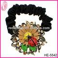 flor barata e animal rabo de cavalo titular cabelo acessórios de cabelo do metal empate