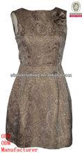 2013 ladies' fashion sleeveless jacquard ladies dress cutting