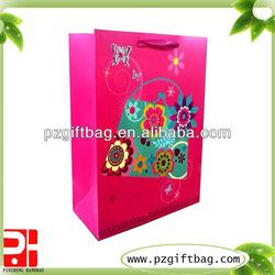 flower design luxury paper printed shopping bag