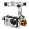 F05447 Aluminum Brushless Gimbal Camera Mount PTZ w/ Motor for Gopro 2/3 FPV Aerial Photography Multicopter