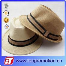 wholesale summer man straw fedora hat cheap