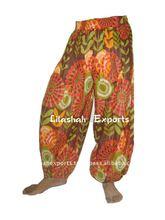 pantaloni di cotone stampato 2837 harem pants alibaba pantaloni vintage sari di seta vestito di seta gonna top Aladdin afgani