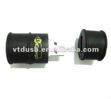 Oil drum shape USB pen flash drive PVC oil cans pendrives Black oil drum shape USB pen
