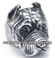 Fashion Stainless Steel Shar Pie Head Rings