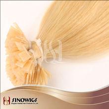 100% High quality virgin European hair hot fusion hair extension