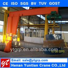Electric hydraulic mobile floor crane, jib crane price