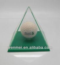 Nice Acrylic Pyramid football display box, storage box(S-AB-010)