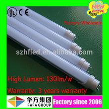 130Lm/W High luminous flux t8 led tube 9w 600mm