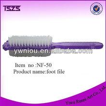 NF-50 pumice+brush foot callus remover pedicure file & nail brush