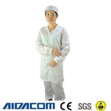 5 mm tecido, Botão / snap antiestático casaco