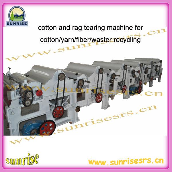 Fiber déchets tearing machine pour coton / fils / fibre / waster recyclage