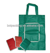 hot sales recycle non woven fold bag with zipper,fold bag with zipper,non woven zipper bag
