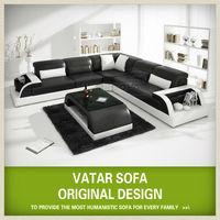 Design furniture leather sofa corner H2213-B,costco furniture