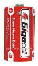 Size D battery Carbon Zinc R20 battery