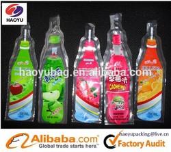 Custom shape and printing liquid packaging plastic bag/ juice plastic bag