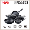 high quality SGS FDA 12 pcs eco prestige aluminum non-stick technique cookware sets