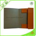 A4 carpeta de archivos de papel con cierre de cuerda elástica para la oficina o la escuela