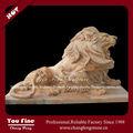 clásico de mármol tallado estatua de de león