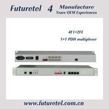 Telecom product 4E1 to 2*10/100M 1+1 Fiber Back up Fiber Optical Multiplexers Singlemode Dual Fiber 20KM 19 Inch Rack