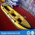 4.2 m 3-person de borracha inflável pesca canoe kayak