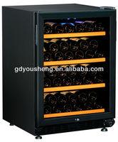 Fan cooling wooden shelf wine cabinet fridge USF-54S with single zone