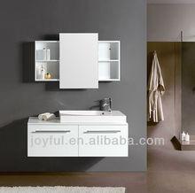 white wall mounted modern bathroom furniture