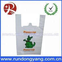 Print design plastic T-Shirt retail shopping bag