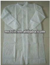 PP+PE lamination visitor coat/PP+PE lamination doctor coat/Disposable PP+PE lamination lab coat