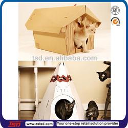 TSD-C5160 cardboard cat house,paper pet house,corrugated cat house