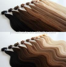 "Indian 22"" Remy Hair Extensions Nail tip Flat pre bonded Italian keratin glue"