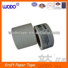 Printed wet water reinforced white kraft paper tape for packing ,kraft paper tape