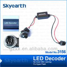 hot!!! LED decoder no more OBC warning fix hyper flash 3156