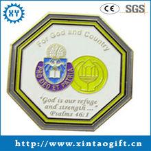 Newly design popular coin 2 inches metal souvenir coin craft