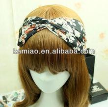 women fashion floral hair accessories printing head wrap