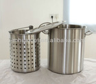 200L Industrial Stainless Steel Stock Pot With Steamer
