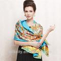 Own Factory - Free Samples -No MOQ - Custom Design Silk Print Scarf