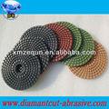 "5""( 125mm) mit 2,5 mm flexible nass granit Diamant-Pads für beton flexible diamant granit nass polierkissens"
