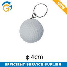 White Golf Ball Keychain PU Stress Ball