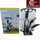 Kitchen knife set with cutting board as seen on tv