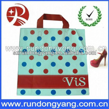 New hot sale printed plastic shopping bag with handle for shopping
