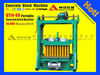 Ethiopia QTJ 4-60 cement concrete block brick making machine