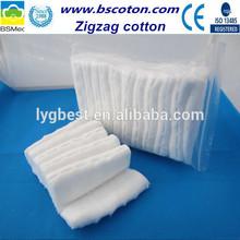 50gram double folded zigzag cotton wool