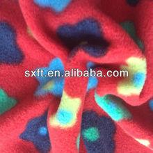 100%polyester knit polar fleece printed fabric