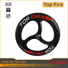 2013 new design full carbon tri spoks wheel,3 spokes carbon bicycle wheels 700c,carbon tri-spoke wheels for sales