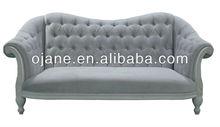 Popular solid sofa furniture pine wood sofa set lip shape sofa